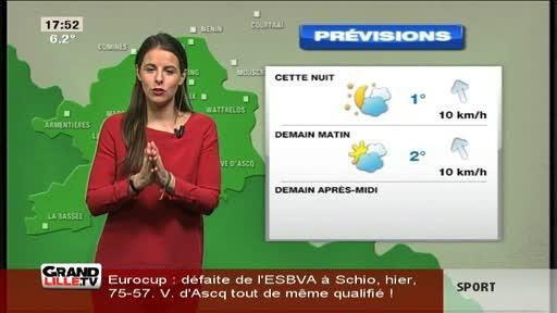 Les Prévisions Météo du 12 Février 2016 (Lille)