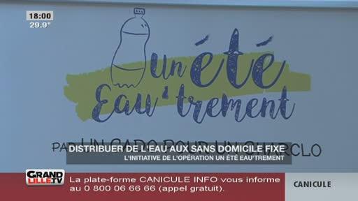 Canicule : Distribution d'eau aux SDF à Lille