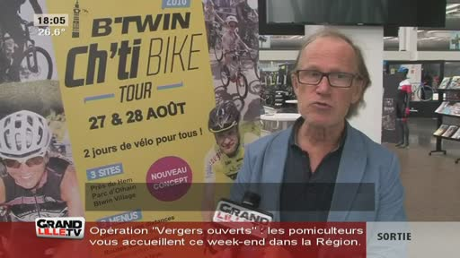 Pédaler au B'twin Ch'ti bike tour