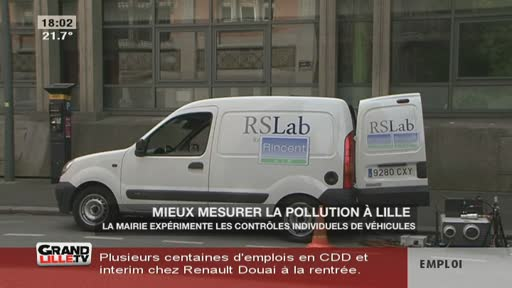 Mieux mesurer la pollution à Lille