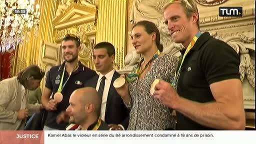 Les médaillés des JO de retour à Lyon