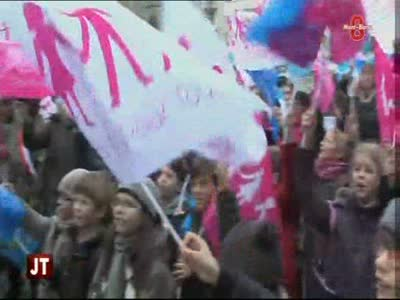 Manifestation contre des violences homophobes (Annemasse)