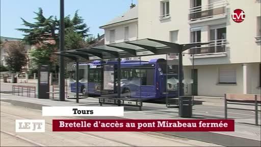 Tours : La bretelle d'accès au pont Mirabeau fermée