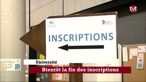 Université: bientôt la fin des inscriptions